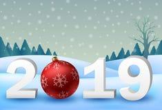 Fondo 2019 del buon anno illustrazione vettoriale