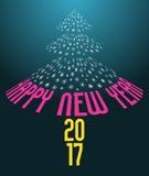 Fondo 2017 del buon anno Immagini Stock Libere da Diritti