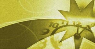 Fondo del buon anno con l'orologio vicino alla mezzanotte fotografie stock libere da diritti