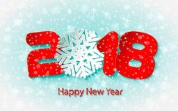 Fondo 2017 del buon anno di vettore con i tagli di carta Fotografia Stock Libera da Diritti