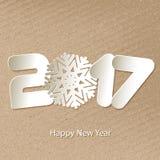 Fondo 2017 del buon anno di vettore con i tagli di carta royalty illustrazione gratis