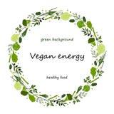 Fondo del círculo de la comida verde del vector Imagen de archivo libre de regalías