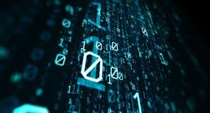 Fondo del código binario Imagenes de archivo