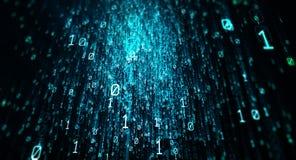 Fondo del código binario Imágenes de archivo libres de regalías