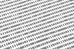 Fondo del código binario Fotos de archivo