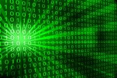 Fondo del código binario Imagen de archivo