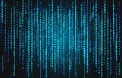 Fondo del código binario Fotografía de archivo