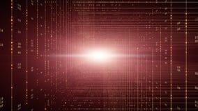 Fondo del código binario Cloud Computing, IOT y concepto del AI de la inteligencia artificial libre illustration