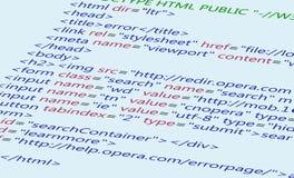Fondo del código del HTML del Web Foto de archivo