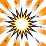 Fondo del cómic de la explosión Foto de archivo libre de regalías