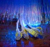 Fondo del cable óptico de la fibra Imagen de archivo libre de regalías