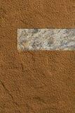 Fondo del cacao in polvere con lo spazio della copia negativa fotografie stock libere da diritti