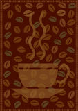 Fondo del café stock de ilustración