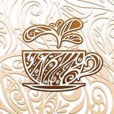 Fondo del café, ejemplo del vector Fotos de archivo