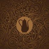 Fondo del café, ejemplo del vector Fotos de archivo libres de regalías