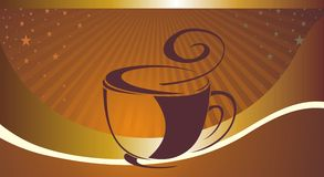 Fondo del café para su promoción stock de ilustración