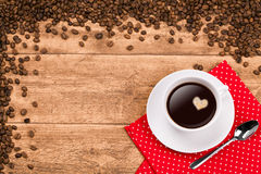 Fondo del caffè Immagini Stock