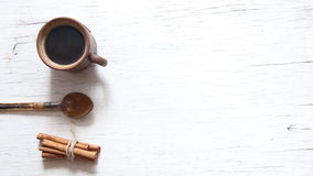 Fondo del caffè di mattina archivi video