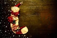 Fondo del calcetín de Santa Claus Christmas Imagen de archivo