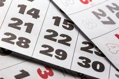 Fondo del calendario Fotografie Stock