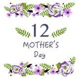 Fondo del calendario del día de la madre Fotos de archivo libres de regalías