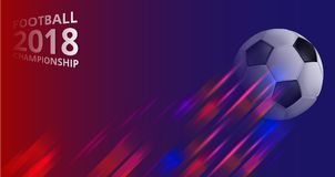 Fondo 2018 del campeonato del fútbol con el balón de fútbol libre illustration