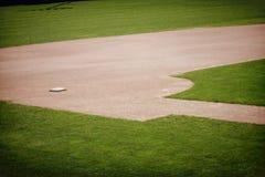 Fondo del campo de béisbol Fotos de archivo libres de regalías