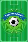 Fondo del campo de fútbol Imágenes de archivo libres de regalías