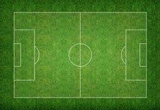 Fondo del campo de fútbol Fotografía de archivo