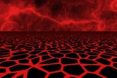 Fondo del campo de lava Imágenes de archivo libres de regalías