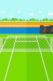 Fondo del campo de tenis Imagen de archivo libre de regalías
