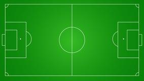 Fondo del campo di calcio o di calcio Immagine Stock