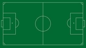 Fondo del campo di calcio o di calcio Fotografie Stock Libere da Diritti