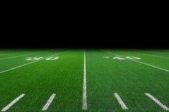 Fondo del campo di football americano Fotografie Stock Libere da Diritti