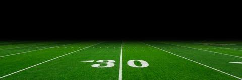 Fondo del campo di football americano Immagini Stock Libere da Diritti