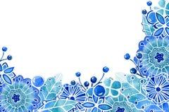 Fondo del capítulo con colores gráficos abstractos Dibujo de la acuarela con un movimiento del contorno en un fondo blanco, para  ilustración del vector