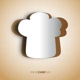 Fondo del cappello del cuoco unico di Papercut Immagine Stock Libera da Diritti
