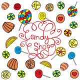 Fondo del caramelo Fotografía de archivo libre de regalías