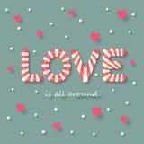 Fondo del caramelo del amor Fotografía de archivo libre de regalías