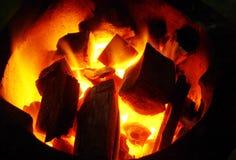 Fondo del carbón de leña Imagen de archivo