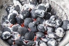 Fondo del carbón de leña Foto de archivo