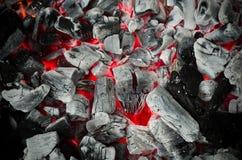 Fondo del carbone del fuoco di braai del barbecue Fotografie Stock Libere da Diritti