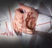 Fondo del cardiograma del ataque del corazón y de los golpes de corazón Fotos de archivo libres de regalías