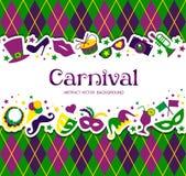 Fondo del carnaval y recepción brillantes de la muestra al carnaval Fotografía de archivo libre de regalías