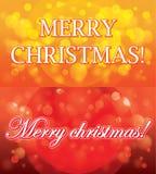 Fondo del carte cadeaux de la Navidad Foto de archivo libre de regalías