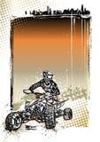 Fondo del cartel de la bici del patio Imagen de archivo