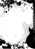 Fondo del cartel de la guitarra eléctrica Imagen de archivo