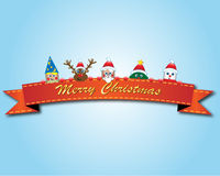 Fondo del cartel de la Navidad con todas las celebridades de la Navidad stock de ilustración