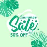 Fondo del cartel de la venta del verano el 50 por ciento apagado ilustración del vector
