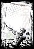 Fondo del cartel del Bodybuilder ilustración del vector